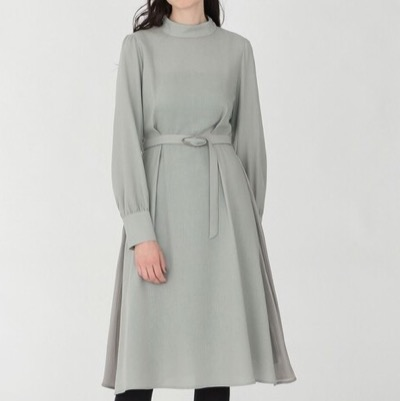 LOVELESS ハイネック ドレープ ドレス