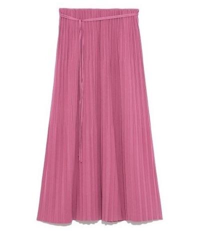 Mila Owen 3段プリーツストレートニットスカート