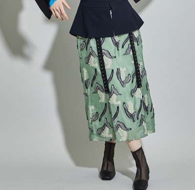 UNITED TOKYO SUZURAN jacquardレイヤースカート