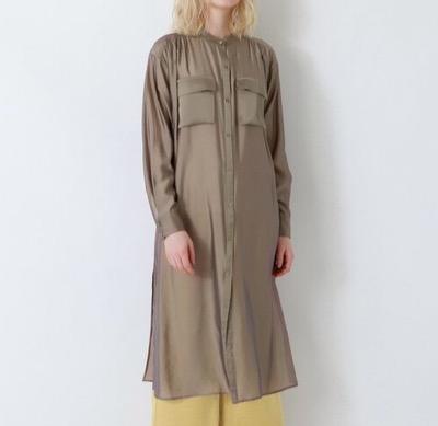 LOVELESS シアーシャンブレーシャツドレス