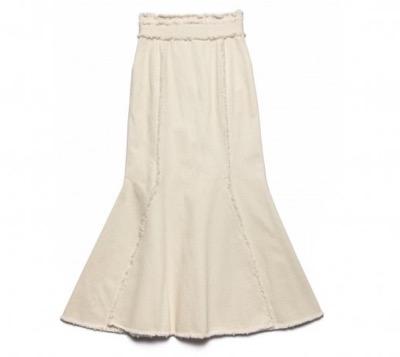 pinue デニムマーメイドスカート