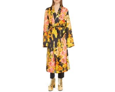 DRIES VAN NOTEN(ドリスヴァンノッテン) Floral Wrap Long Sleeve Dress