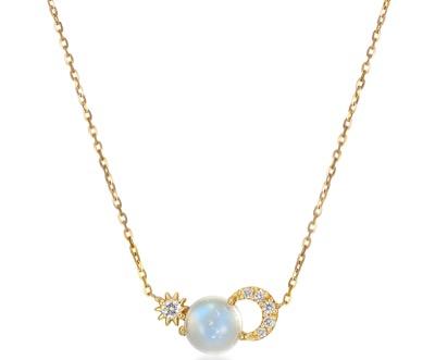 STAR JEWELRY K18 ネックレス DIAMOND ECLIPSE