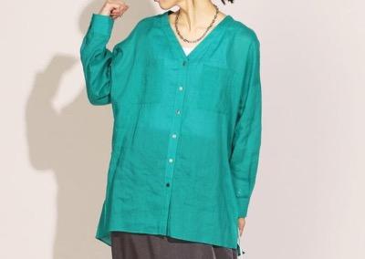 NOLLEY'S ロイヤルラミーノーカラーシャツ