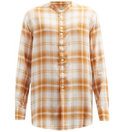 BED J.W. FORD スタンドカラー チェックシャツ