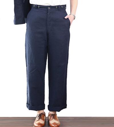 NIGEL CABOURN BASIC PANT HIGH DENSITY LINEN