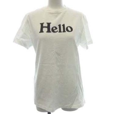 MADISONBLUE HELLO CREW NECK TEE
