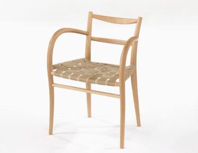 IDC OTSUKA(大塚家具) ダイニングチェア 椅子 イス サポースチェア 麻テープ/白木塗装 ブナ