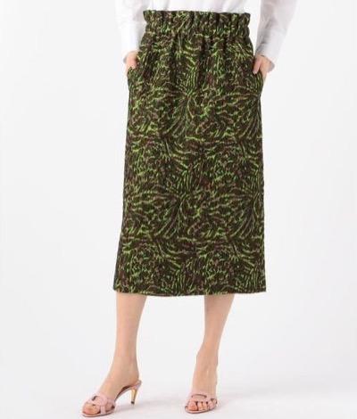 CABaN(キャバン) フローティングジャカード Iラインスカート