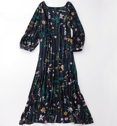 THE SHE DAUPHINETTE ガーデンプリーツドレス