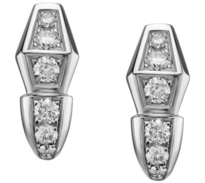 BVLGARIWhite Gold and Diamond Serpenti Earrings