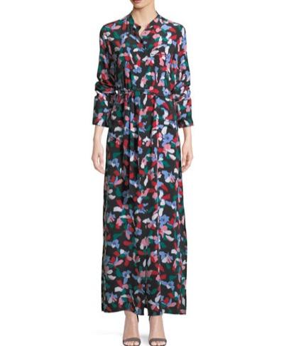 Equipment Britten Floral-Print Silk Maxi Dress