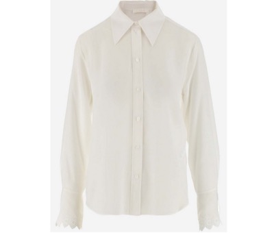 Chloé White Silk Women's Casual Shirt