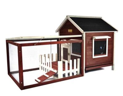 ADVANTEKログハウス風のうさぎ小屋
