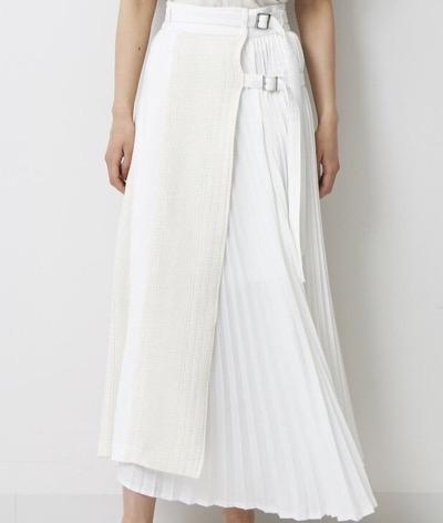 EZUMi カラミプリーツスカート