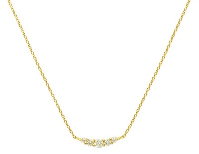 BLOOM K18 イエローゴールド ダイヤモンド ネックレス