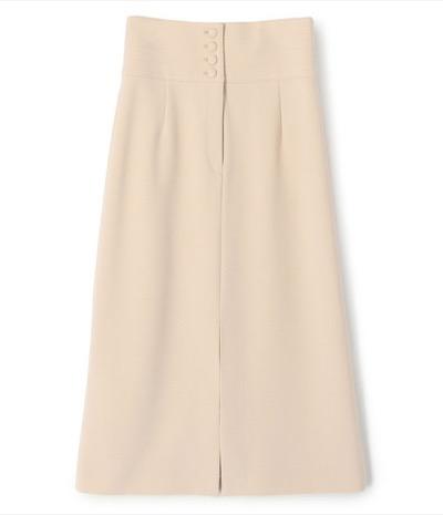 ESTNATION フロントボタンハイウエストタイトスカート