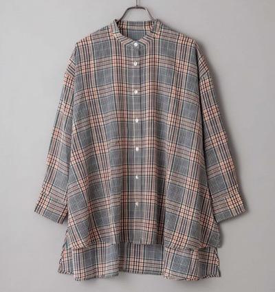 CIAOPANIC チェックバンドカラービッグシャツ
