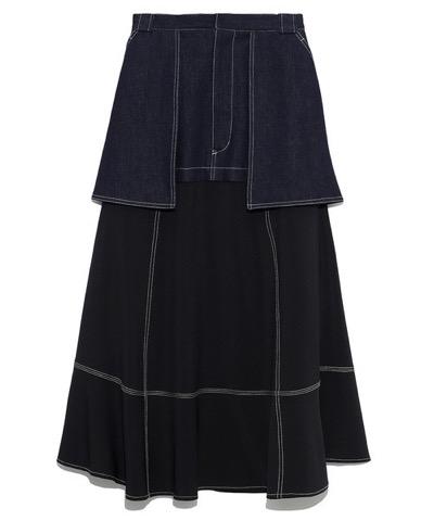 FURFUR ミリタリーリメイクスカート