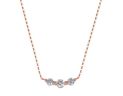 TSUTSUMI K18ピンクゴールドダイヤモンドネックレス