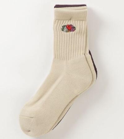 FRUIT OF THE LOOM ワンポイントロゴクォーター3P 靴下 ワンポイント刺繍