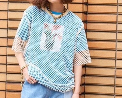 MAISON SPECIAL ショートスリーブメッシュTシャツ