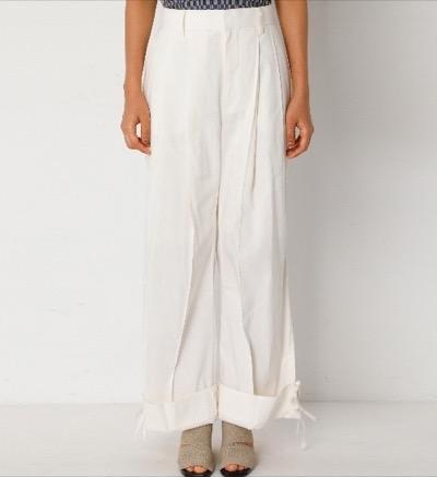 IRENE Cotton Roll-up Pants