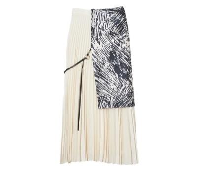 MIKAGE SHIN Pleated Layered Skirt