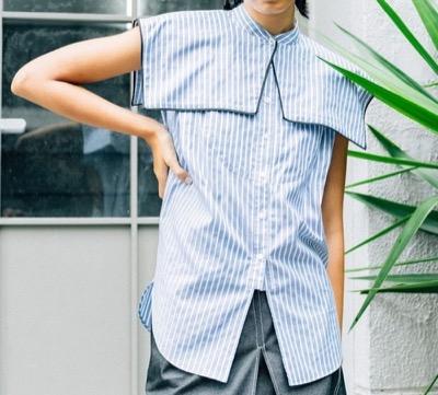 INella 2WAYビッグカラーセットシャツ