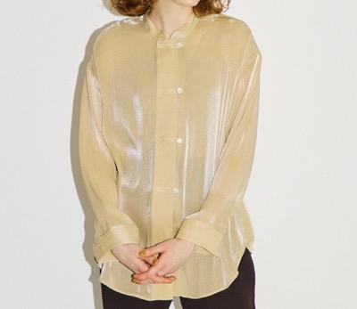 PUBLIC TOKYO シアーサテンチャイナシャツ