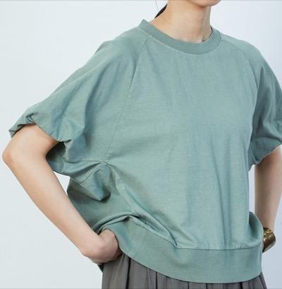LOISIR 硫化染めバルーン袖Tシャツ