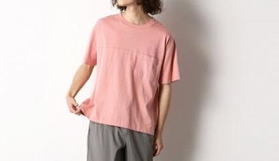 Purple&Yellow ワイドシルエット バックロゴ Tシャツ