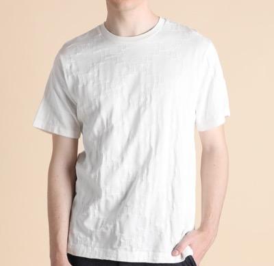 LANVIN en Bleu ダブルJLモノグラム ジャガードTシャツ