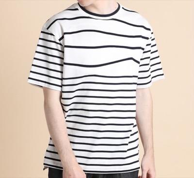 LANVIN en Bleu ウェーブボーダー Tシャツ