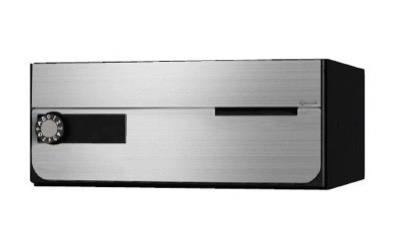 NASTA(ナスタ) ポスト 前入前出 屋内タイプ 静音大型ダイヤル錠 KS-MB7002PY-L-S ステンレスヘアーライン
