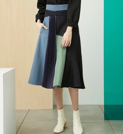 UNITED TOKYO ブロックフォームスカート