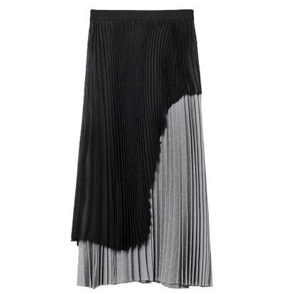 LE CIEL BLEU Pleated Overlay Skirt