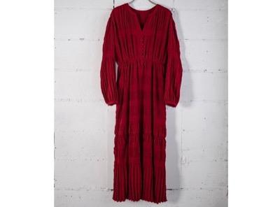 ANOGH PLEATS LONG DRESS