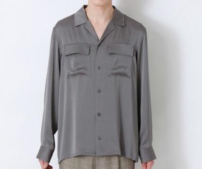 LOVELESS ヴィンテージサテン オーバーシャツ