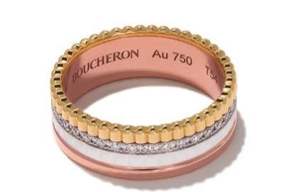 BOUCHERON QUATRE WHITE EDITION ダイヤモンド リング S 18K