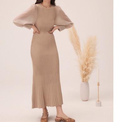 RANDEBOO puff knit dress