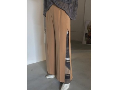 AMERI MEDI TWIN CHEETAH SCARF PANTS