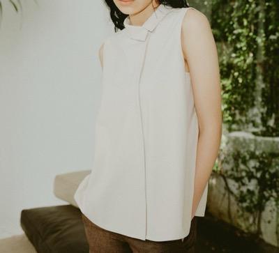 LOr Asymmetry Collar Shirt