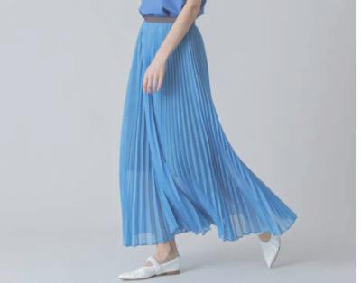 ELE STOLYOF シアープリーツスカート
