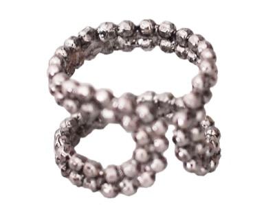 ADER.bijoux CUT STEEL ring