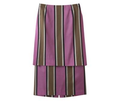 ADORE カラーレジメンタルスカート