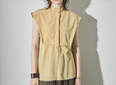 PUBLIC TOKYO フレンチスリーブレイヤードシャツ
