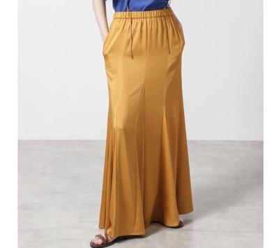 FLOML ハンマーサテンスカート