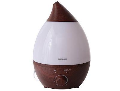 IRIS OHYAMA(アイリスオーヤマ) 超音波加湿器 4L 木目 ダークブラウン