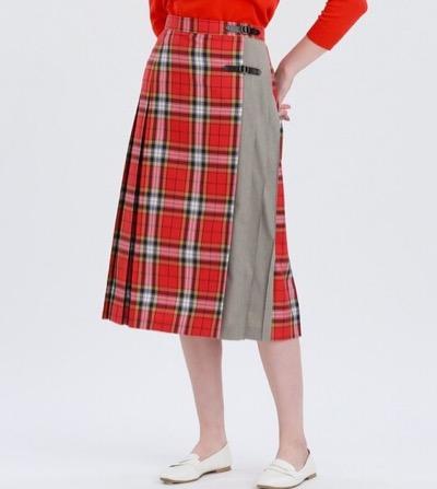 MACKINTOSH PHILOSOPHY タータンチェックキルトスカート